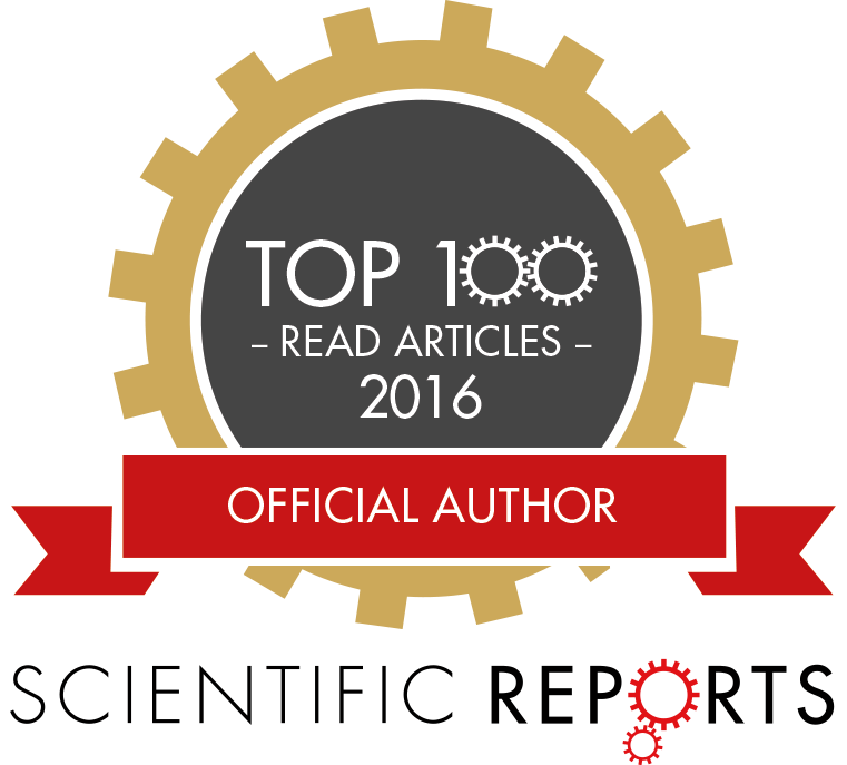 SCIREP top100readbadge
